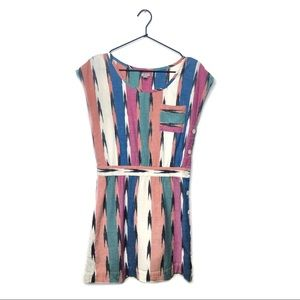 Ecoté Ikat Side Button Dress